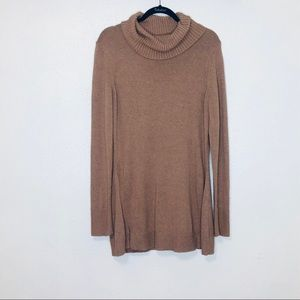 H by Halston camel brown turtleneck sweater